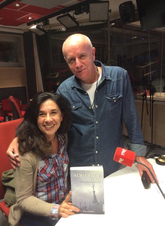 Marta Sanmamed con Miguel Blanco en RNE