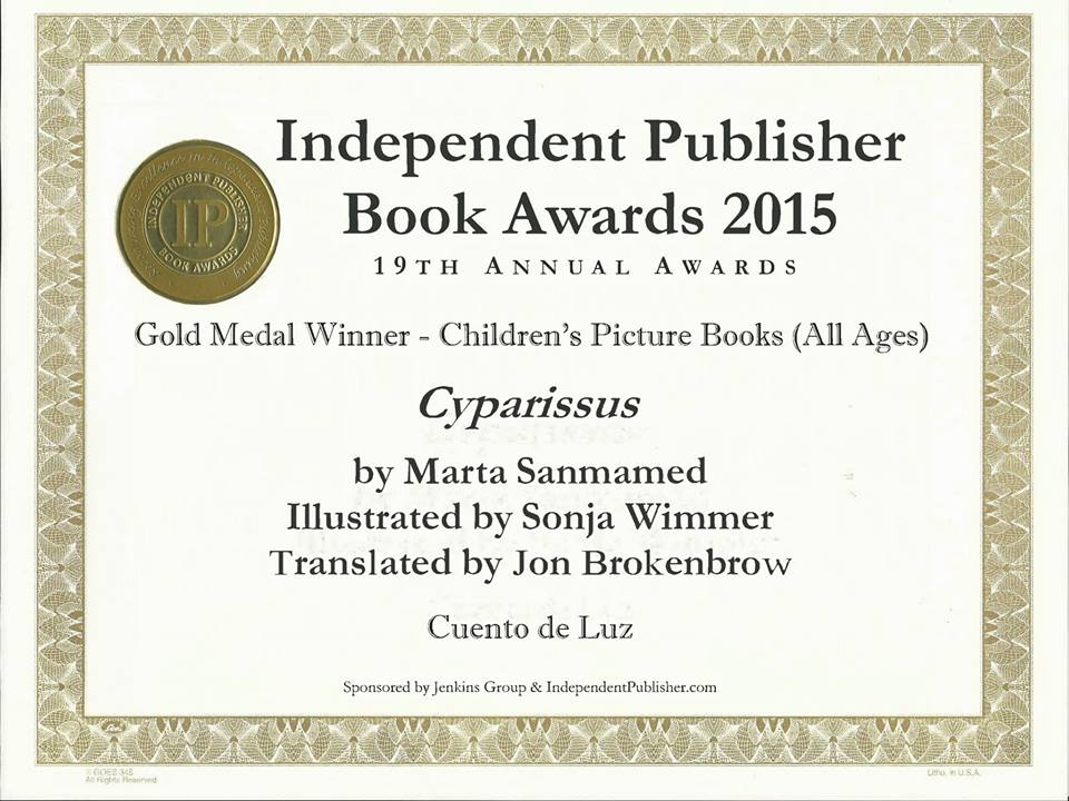 GOLD MEDAL CYPARISSUS IPPY AWARDS