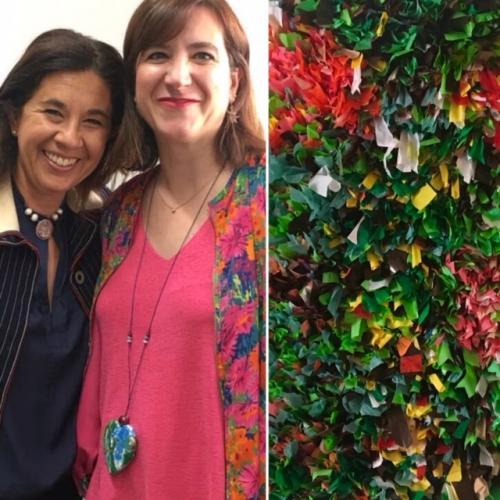 Reciclando latidos es una serie de petit esculturas creadas a partir de plástico reutilizado. KnotyKnot.